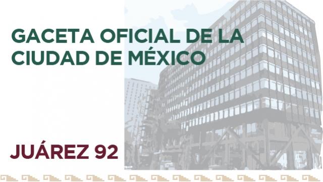 Gaceta Oficial Ciudad de México